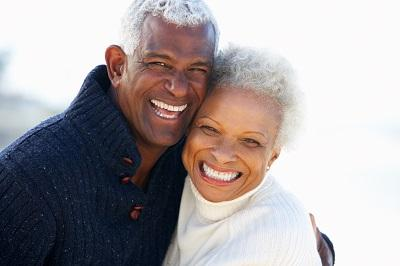 older couple laughing & smiling l dentist doylestown pa