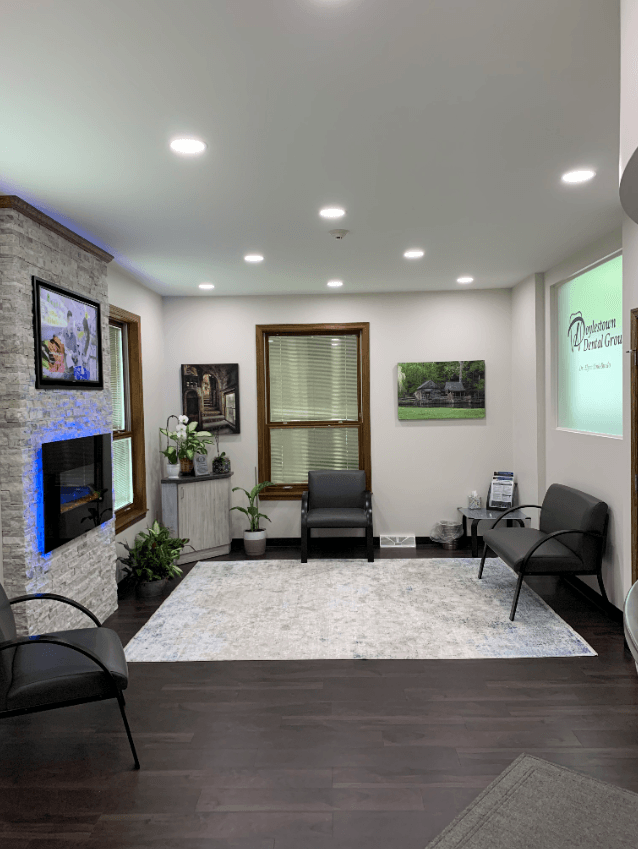 waiting area doylestown dental group